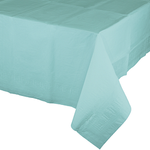 "Spa Blue Paper Table-Cover 54"" x 108"""