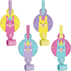 Llama Party Blowouts (8 counts)
