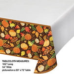 "Give Thanks Plastic Table-cover 54"" x 102"""