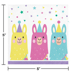 Llama Party Beverage Napkins