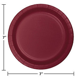 "Burgundy 7"" Lunch Plates (24 counts)"