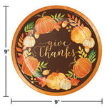 Give Thanks Plastic Dinner Plates