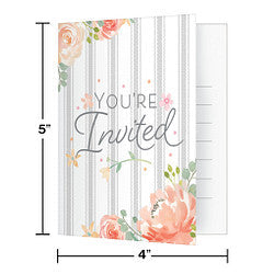 Farmhouse Floral Invitation (8 counts)