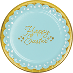 Golden Easter Dinner Plates Foil Stamp