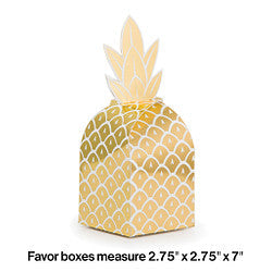 Pineapple Wedding Favor Box