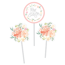 Farmhouse Flora Wedding Centerpiece Sticks