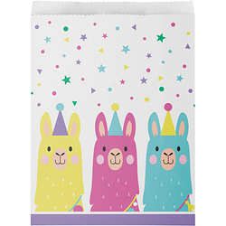 Llama Party Plastic Paper Treat Bags (10 counts)
