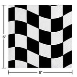 Black & White Checker Beverage Napkins