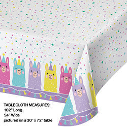 "Llama Party Plastic Table-cover 54"" x 102"""