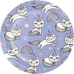 "Sassy Caticon 7"" Lunch - Dessert Plates"