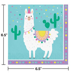 "Llama Party 7"" Lunch Napkins"