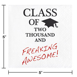 Class of Two Thousand and Freaking Awesome Beverage Napkins