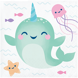 Narwhale Party Beverage Napkins