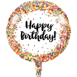 "18"" Birthday Sprinkle Metallic Balloon"