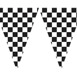 Black & White Checker Banner Flag