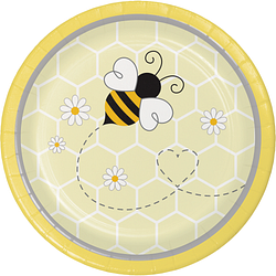 "Bumblebee Baby Plastic 7"" Lunch Plates ( 8 counts)"
