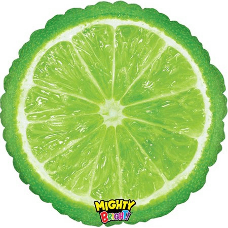 "21"" Foil Photographic Lime Balloon"