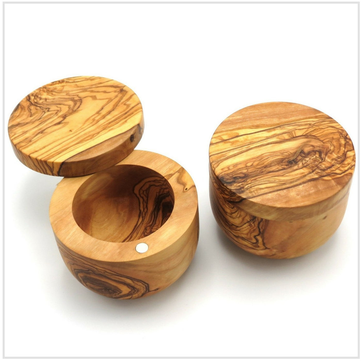 Artisan Salt Keeper Olive Wood 10cm