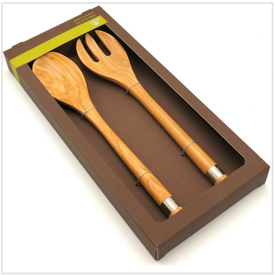Berard Olivewood Salad Server Set