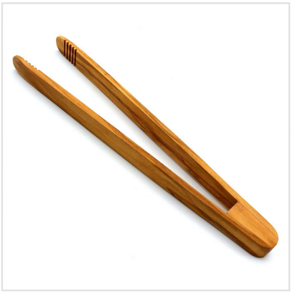 Berard Olivewood Toast Tongs