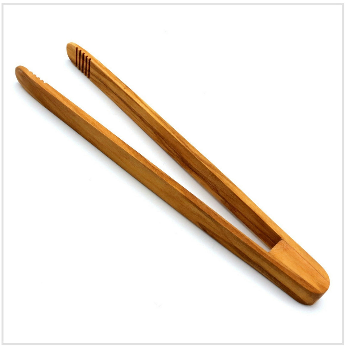 Olivewood Toast Tongs