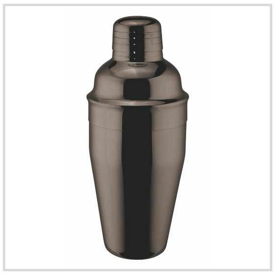 Ilsa Stainless Steel Cocktail Shaker - Black - 500ml