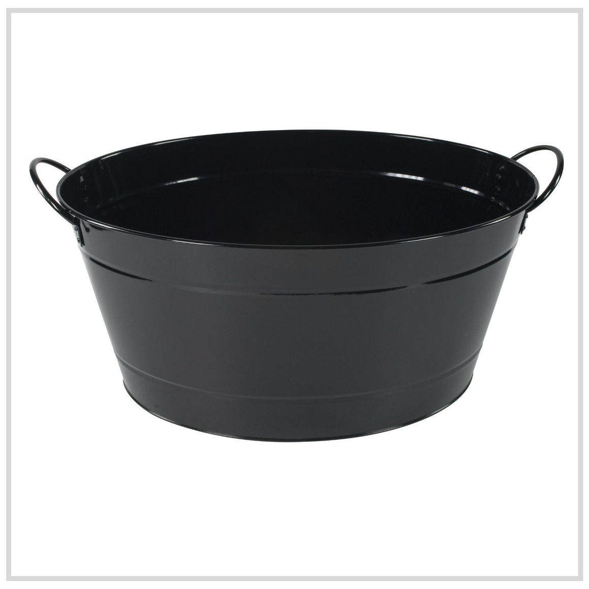 Ilsa Steel Party Tub for Drinks - Black