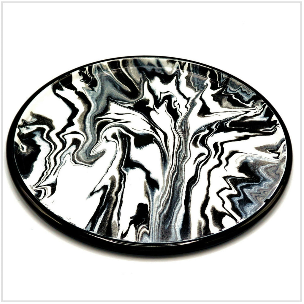 Bornn Marbled Black Serving Tray in Enamel 30cm
