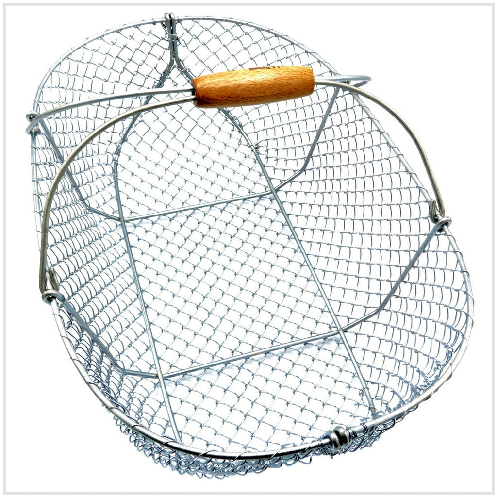 Basket Wooden Handle & Mesh