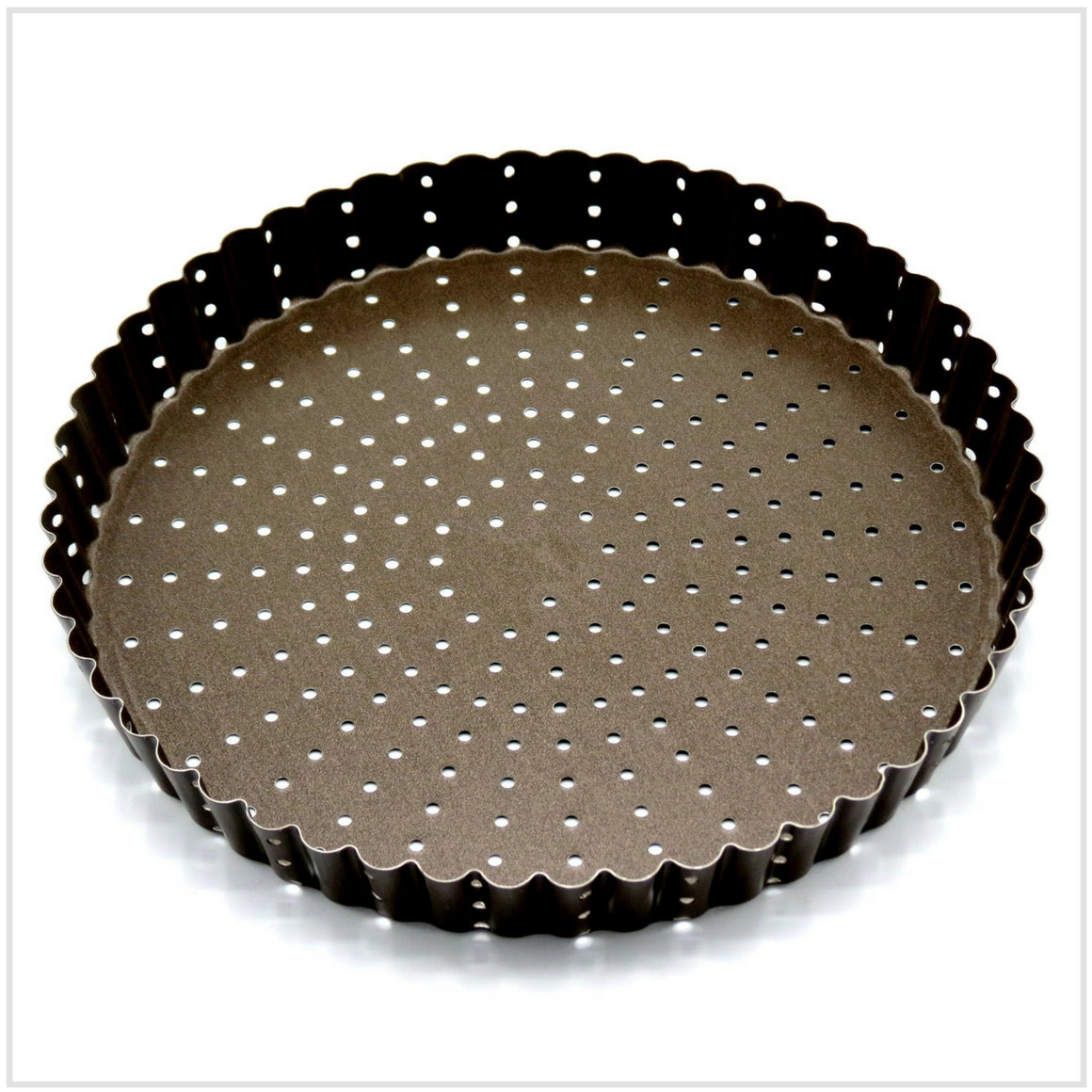 Round Fluted Perforated Tart/Quiche Pan 22cm