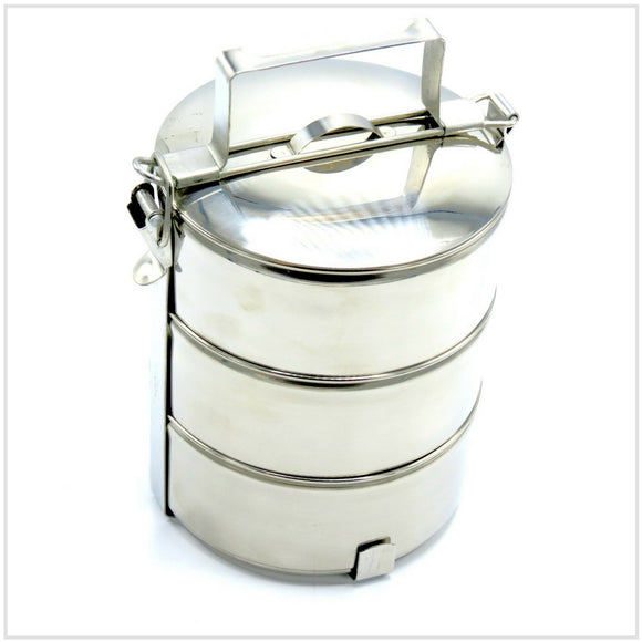 Tiffin Tin Luncbox in Stainless Steel