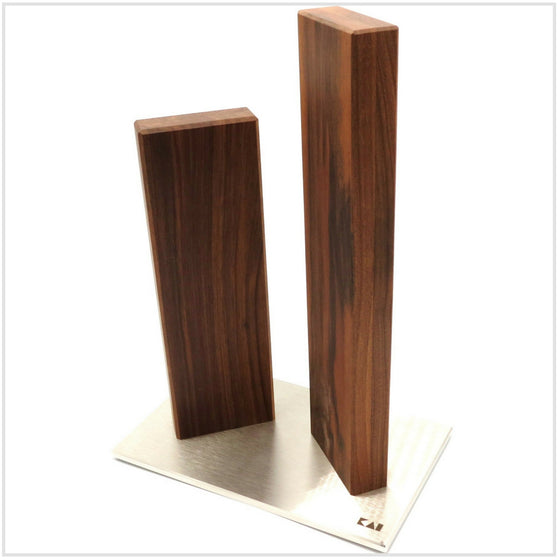 Stonehenge Knife Block Stainless Steel/Walnut for 4knives