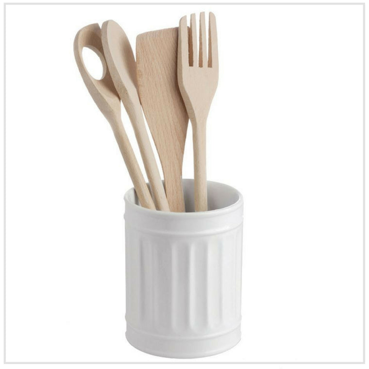 La Porcella Blanca Porcelain Utensil Holder