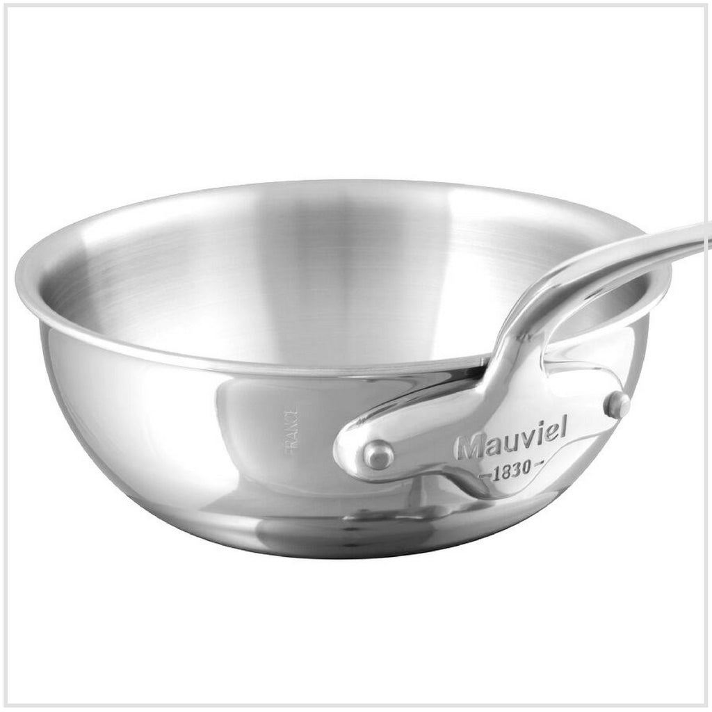 Mauviel M'Cook Curved Splayed Sauté Pan 5-Ply Stainless Steel 24cm