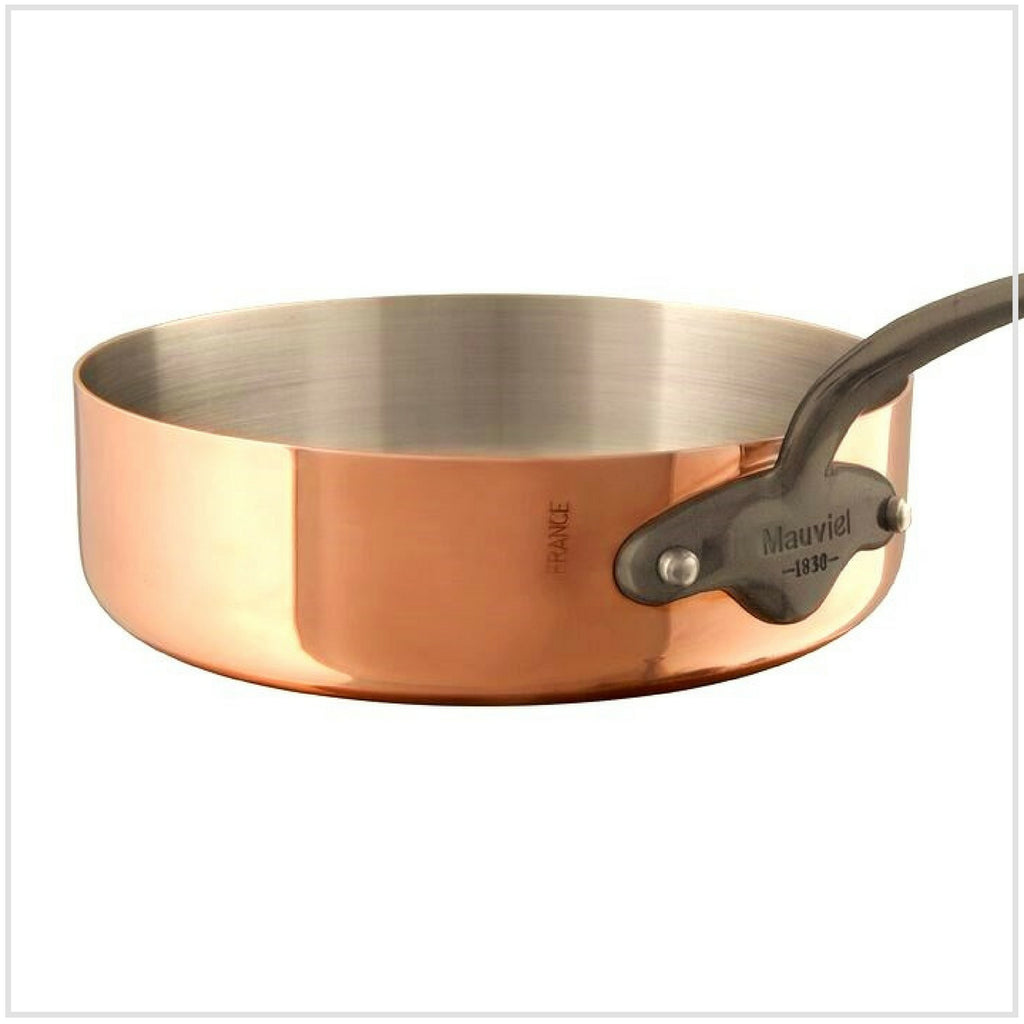 Mauviel M'Tradition 250C Copper Sautépan with Cast Iron Fittings -28cm