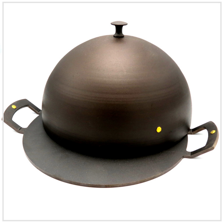 Spun Iron Baking Bell & Griddle Plate 30cm