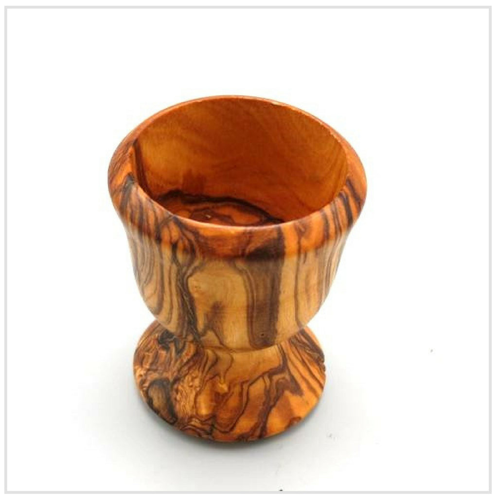Egg Cup, Oiled Olive Wood