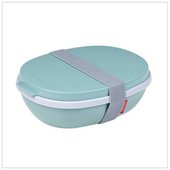Mepal Lunchbox Eclipse with Two Layers and Dressing Container- Nordic Green