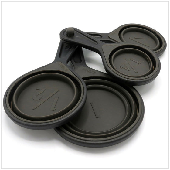 Silicone Measuring Cups 4 Pack Black