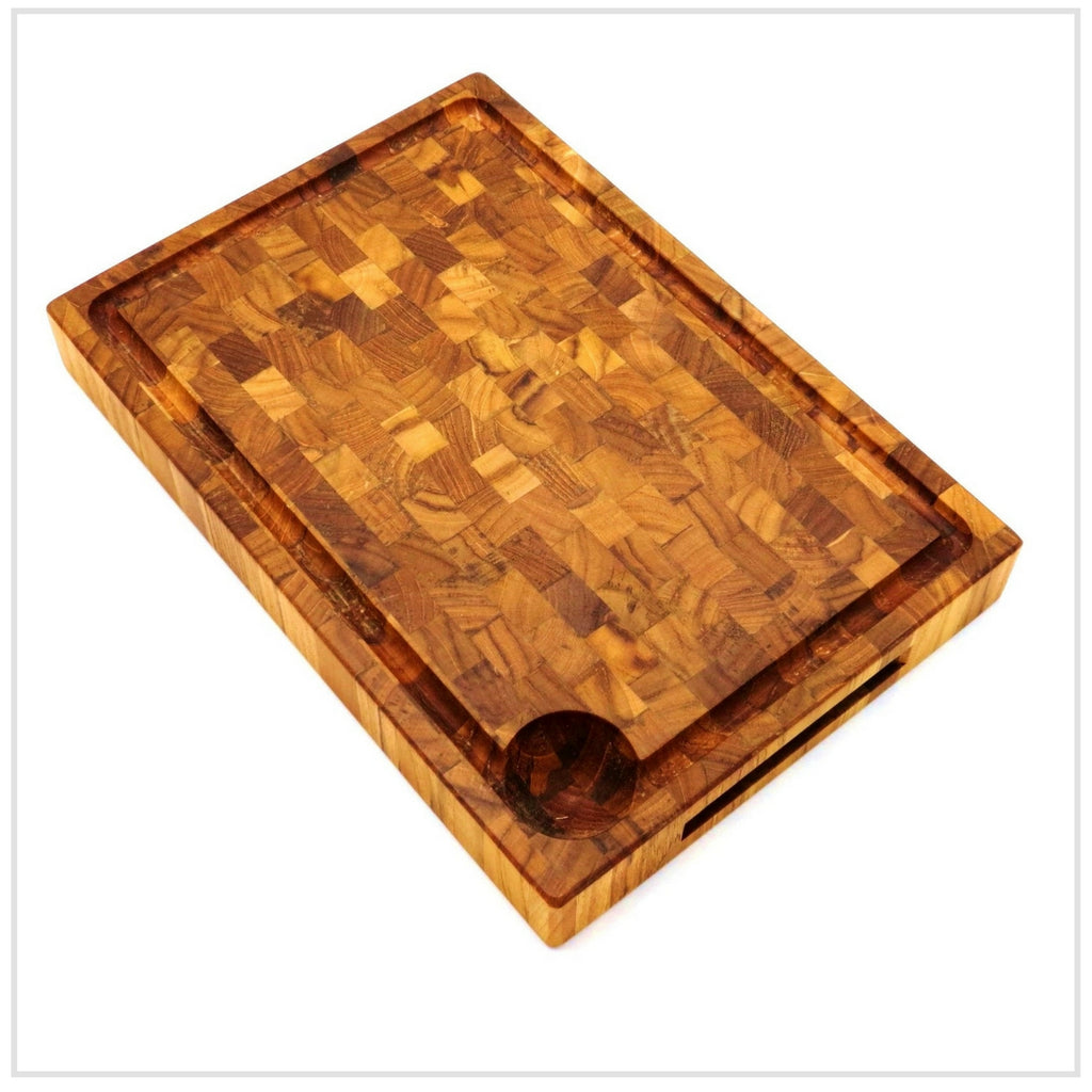 Cutting Board, Endwood in Teak, Oil Finish, 27x50cm