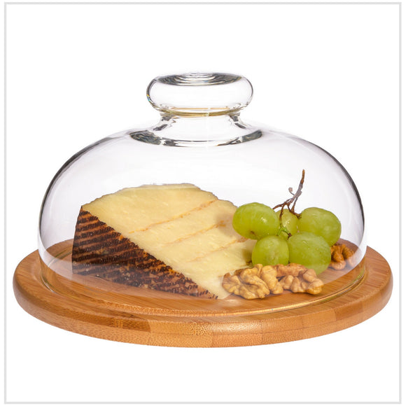 Cheese Dome with Wooden Board 21cm