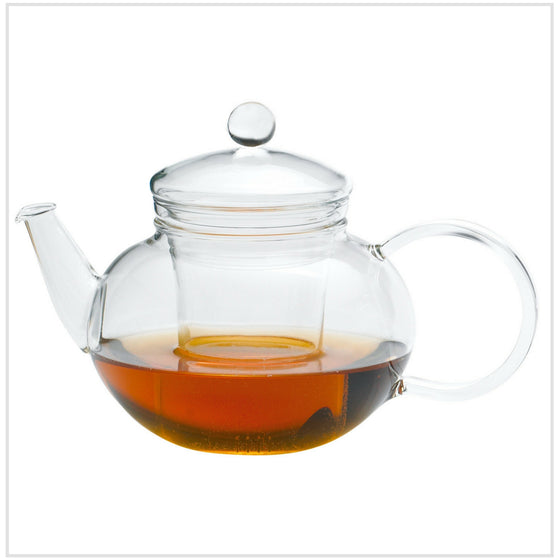 Miko Teapot with Glass Strainer and Lid