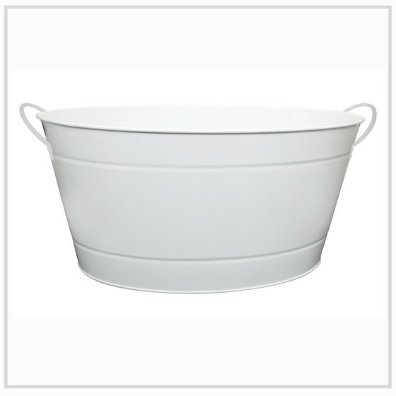Ilsa Steel Party Tub for Drinks - White