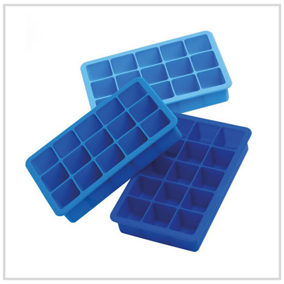 Epicurean Triple Pack Ice Cube Tray - 3 Shades of Blue