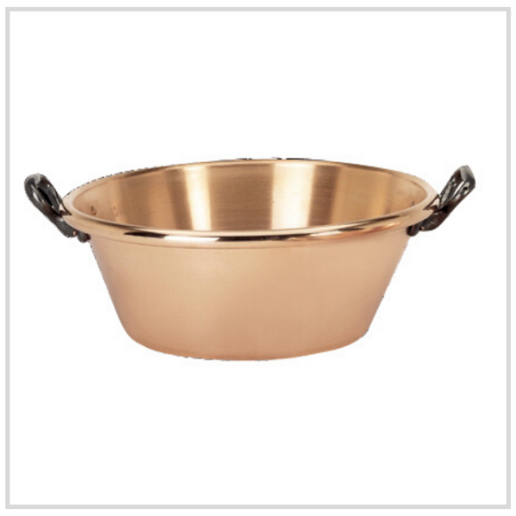 De Buyer Copper Preserving Pan with Cast Iron Handles - 9 Litres 38cm