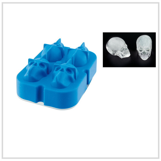 Ilsa Skull Shaped Ice Moulds Silicone - 4 Pack