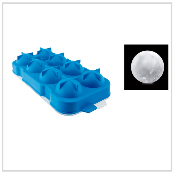 Ilsa Sphere Shaped Ice Moulds Silicone - 8 Pack