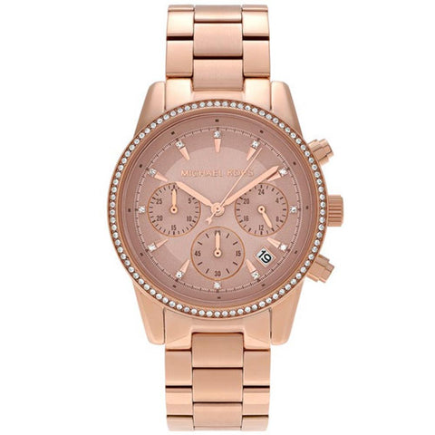 Michael Kors Ladies Ritz Chronograph Watch MK6357 - JB Watches