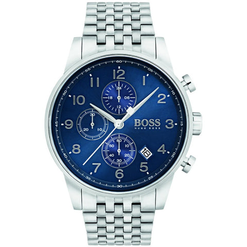 Hugo Boss Men's Navigator Chronograph Watch 1513498 - JB Watches