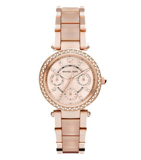Michael Kors Ladies' Mini Parker Chronograph Watch MK6110 - JB Watches